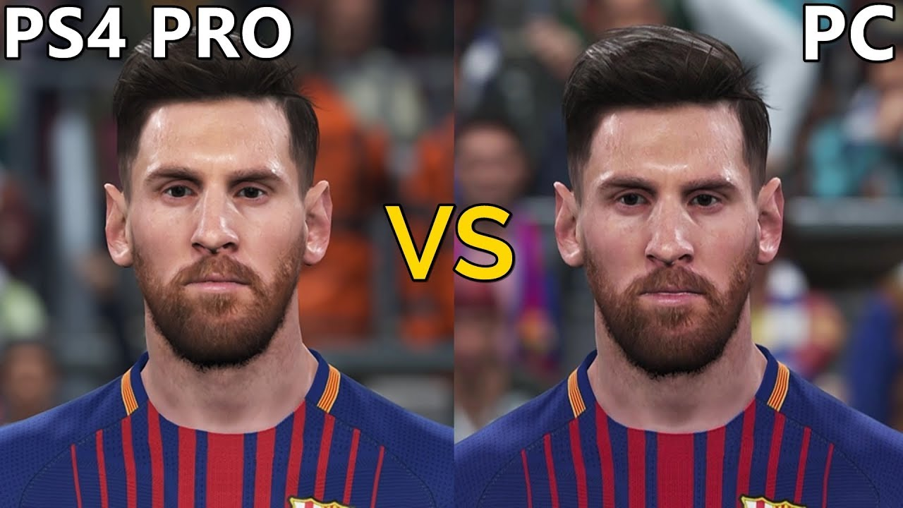 PES 2018 Graphics Comparison (PS4 Pro vs PC)