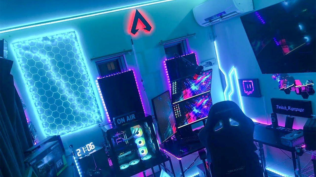 【これは何が光ってるの?】ゲーム部屋に圧倒的なライティングを施したAPEXゲーマーのPCデスク周りが凄すぎた件