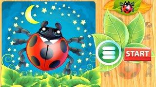Развивающее видео для детей - Анимированные пазлы насекомые. Обзоры детских приложений