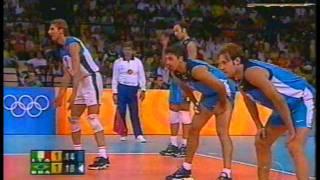 Brasil 3x1 Itália Atenas 2004 - Final Vôlei Masculino Parte 5/11