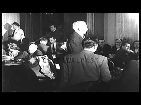 US Secretary of War at the meeting of a committee for discussion about the US pol...HD Stock Footage
