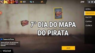 7° DIA DO MAPA DO PIRATA - FREE FIRE