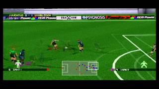 Adidas Power Soccer 98 Gameplay Friendly Match (PlayStation)