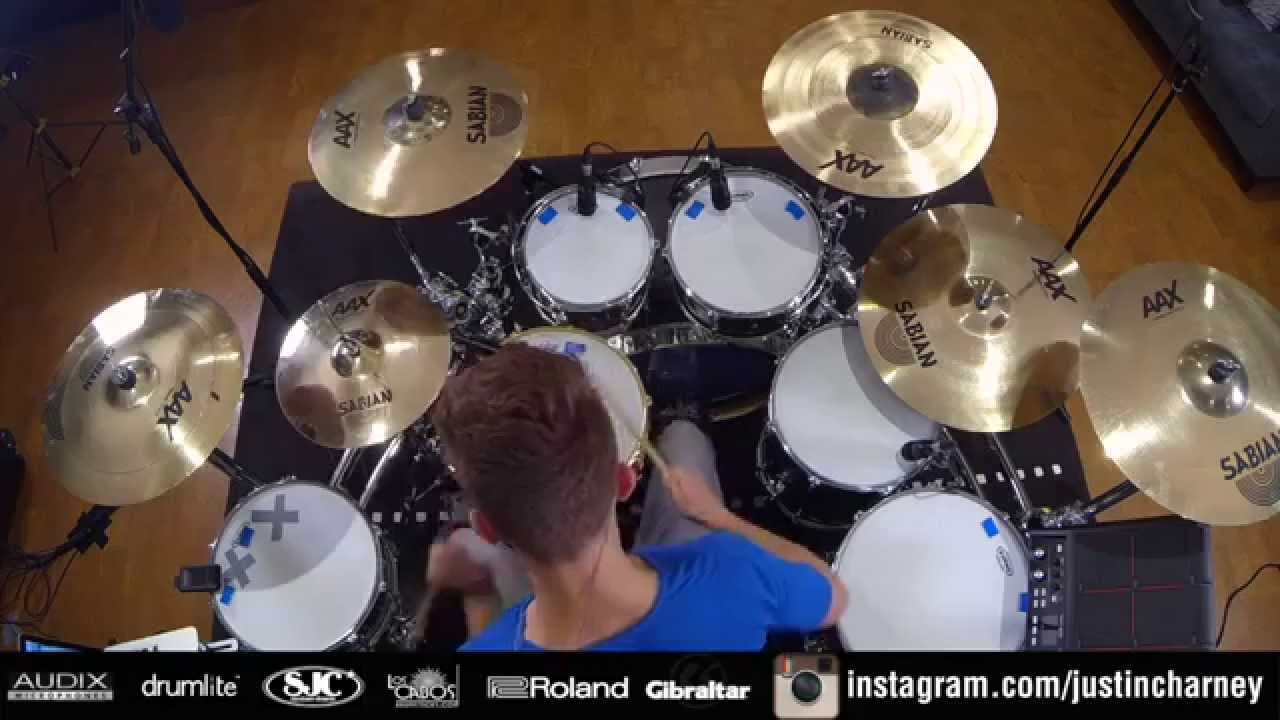 Download Funk Freestyle and Gospel Chops DRUM SOLO by Justin Charney