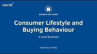 Consumer lifestyle and buying behaviour