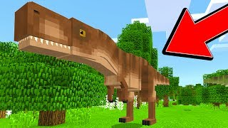 THE SECRET DINOSAUR ISLAND in MINECRAFT POCKET EDITION!