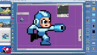 How to pixel art MEGAMAN (Mega Man 2) - Pixel art timelapse speed draw speedpaint speedart