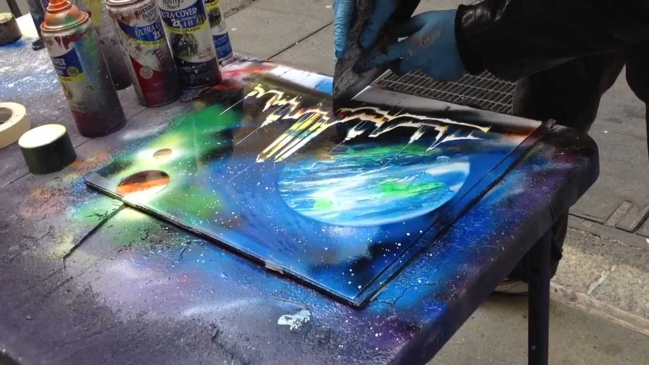 new york spray paint art youtube. Black Bedroom Furniture Sets. Home Design Ideas