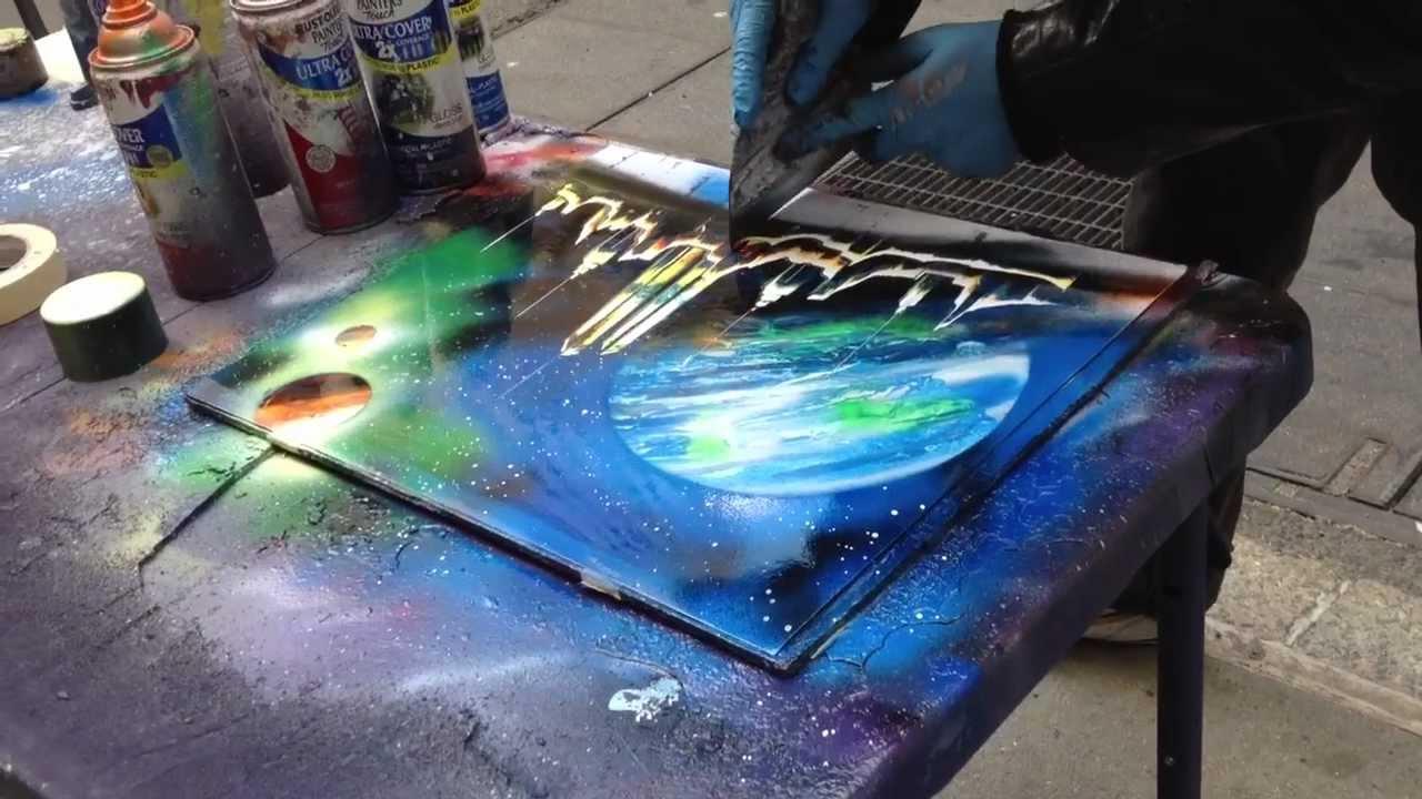 New York Spray Paint Art - YouTube