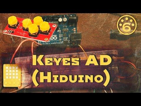 6.Миди контроллер на модуле Keyes AD | Arduino | Midi | Hiduino