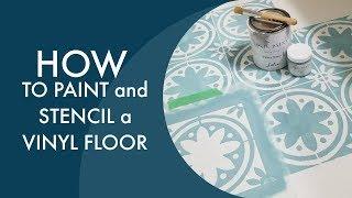 How To Stencil A Linoleum or Vinyl Floor | Step by Step| Cutting Edge Stencils | Jolie Paint