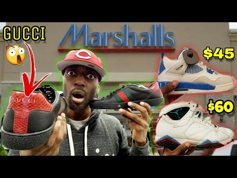 I FOUND GUCCI SHOES & JORDANS AT MARSHALLS FOR CRAZY STEALS!!!