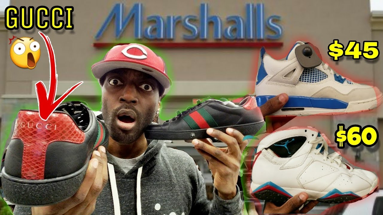 a3c5c5a8eca262 I FOUND GUCCI SHOES   JORDANS AT MARSHALLS FOR CRAZY STEALS!!! - YouTube