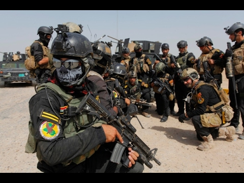 Helmet Cam of Iraqi Special Forces fight with ISIS on Mosul