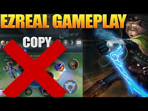 League Of Legends Wild Rift Ezreal Gameplay Copy (Lol Mobile)