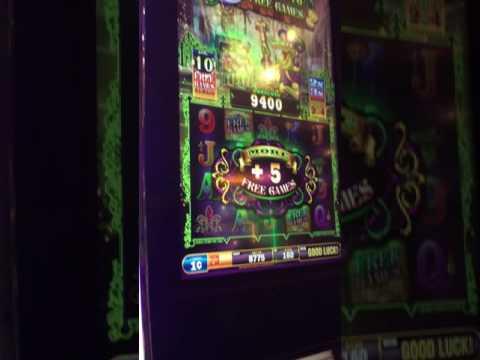 Gold on the Bayou slot machine- Harrah's Casino New Orleans- $1.80 bet. NIce Bonus Win!