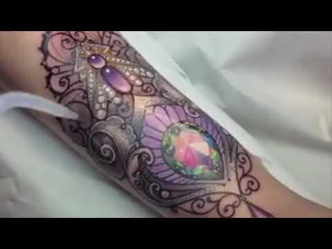 Sparking Gem Tattoos by Jenna Kerr