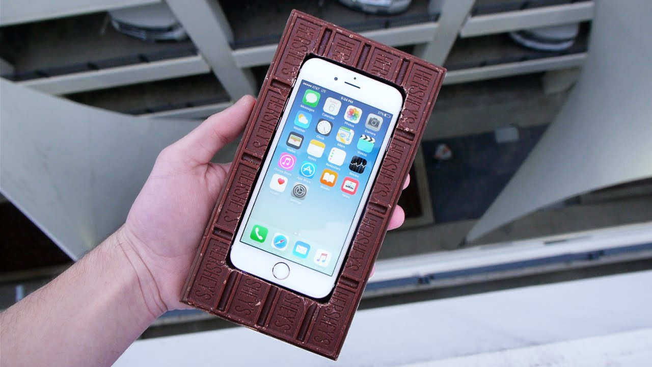 Can A Chocolate Bar Protect An IPhone 6S From 100 FT Drop Test