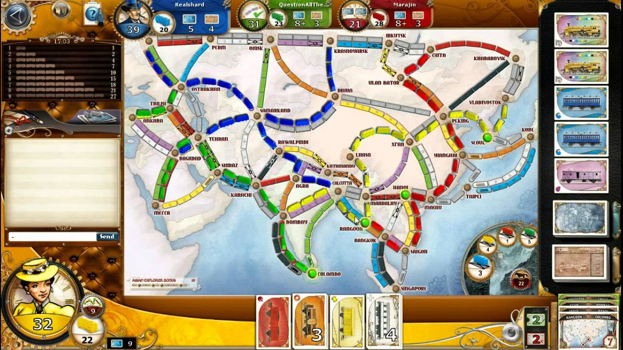 Ticket To Ride Asia Map.09 Let S Play Ticket To Ride Legendary Asia Map Youtube