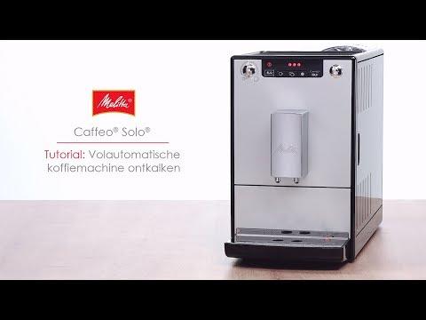 Caffeo® Solo® - Tutorial: Volautomatische koffiemachine ontkalken