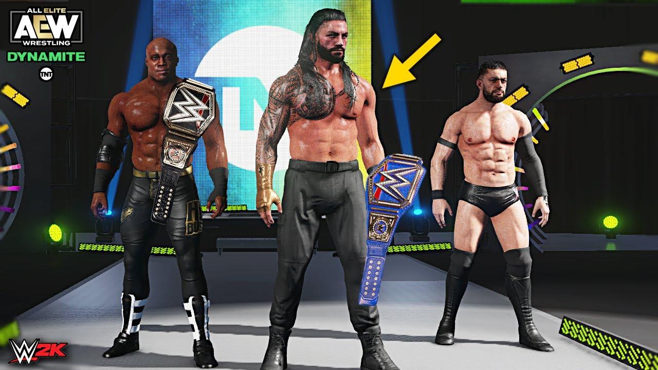 All WWE Champions Invades AEW Wrestling | WWE 2K Custom Story