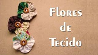 DIY – Flores em tecido – Passo a Passo – Vapt Vupt