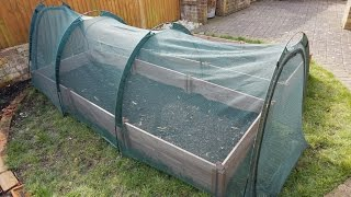 How to Gardening DIY Project WOODEN RAISED BED Tomatoes Spanich Kale Cucumbers Leek Lettuce