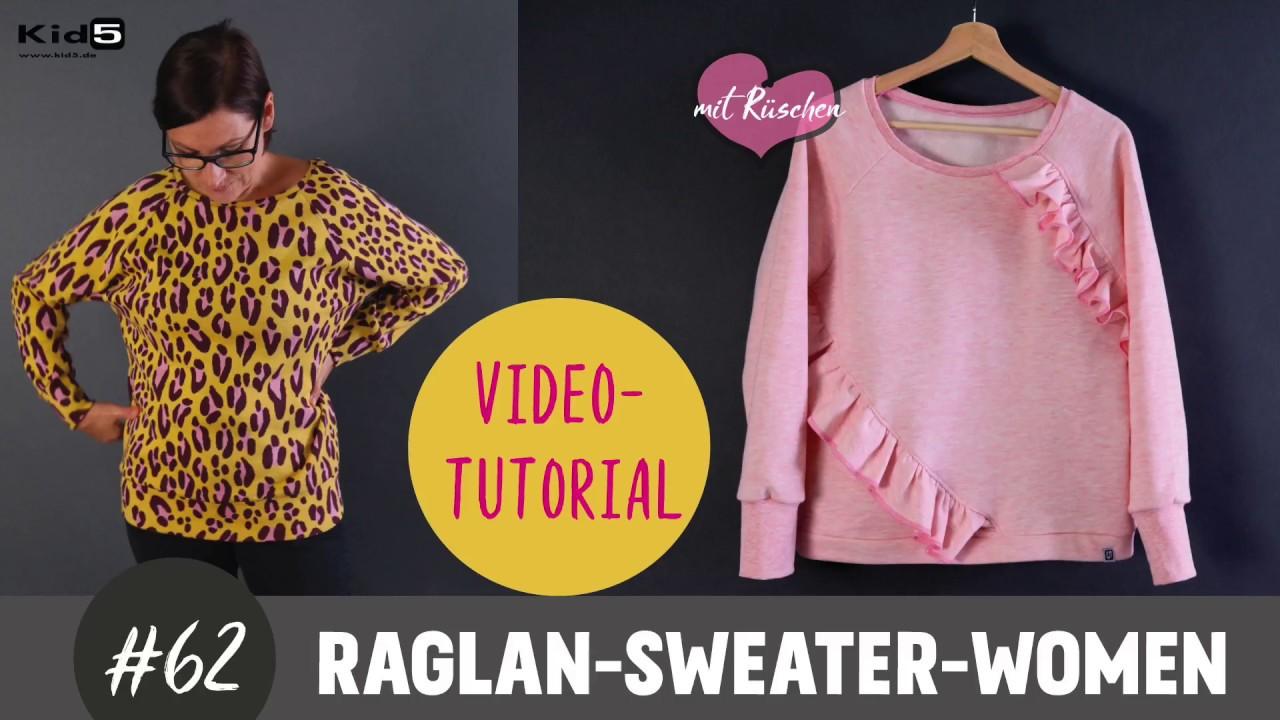 Damen-Raglan-Sweater im oversized Look ganz einfach selber Nähen ...