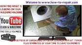 Locating and Repairing a Leak in a Front Load Washer - YouTube on