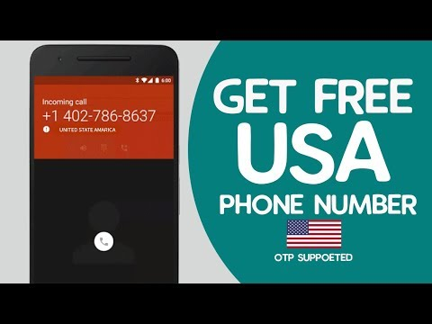 How To Get A FREE USA Phone Number From Any Country