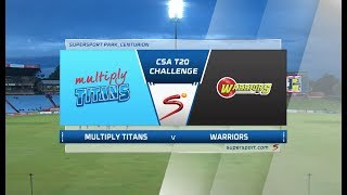 CSA T20 Challenge | Multiply Titans vs Warriors