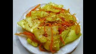 Рецепт капусты по корейски быстрого приготовления. Просто и вкусно!