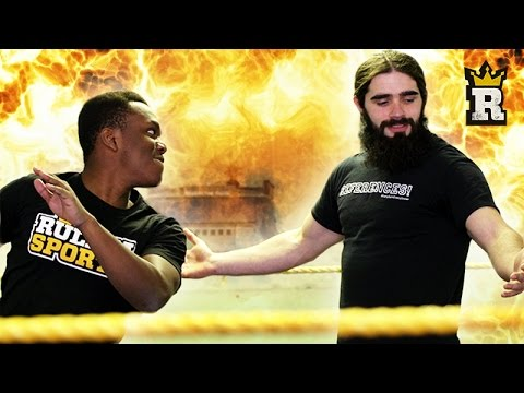 KSI Delivers An RKO!!! | Rule'm Sports