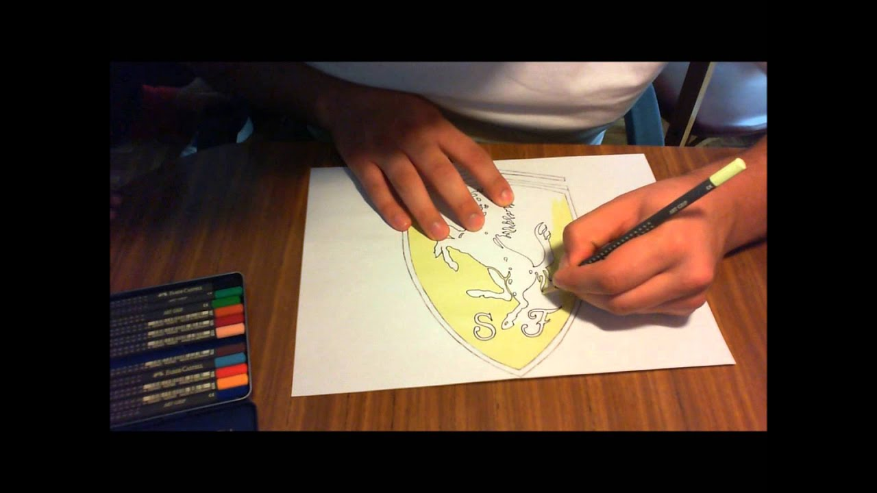 Speed Drawing Del Logo De Ferrari Youtube