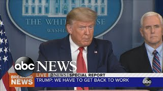Americans need to return to work: President Trump