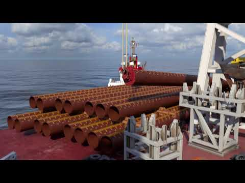 Offshore wind farm foundation installation