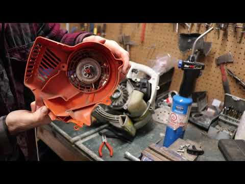 Stihl starter parts assembly pull cord install for blower
