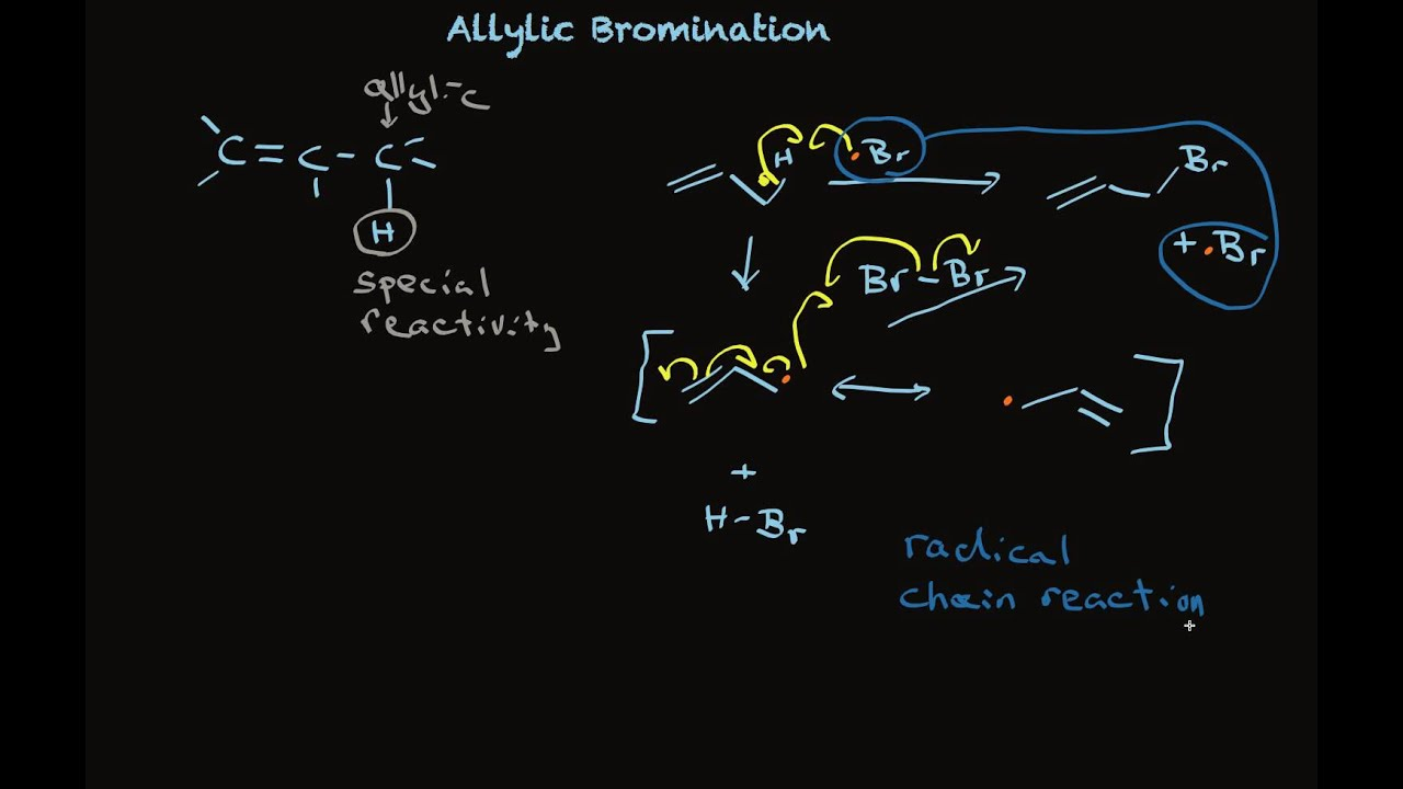 Allylic Bromination Of Alkenes Using Nbs Youtube