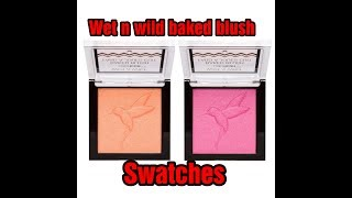 HUMMINGBIRD HYPE & DARE TO SOAR BAKED BLUSH BY WET N WILD REVIEW AND SWATCHES