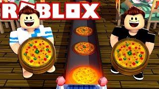 PIZZA FACTORY EN ROBLOX!!