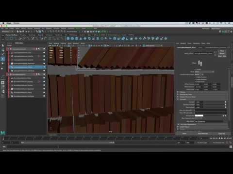 Maya 2017 - Creating a Bookshelf model asset with MASH.
