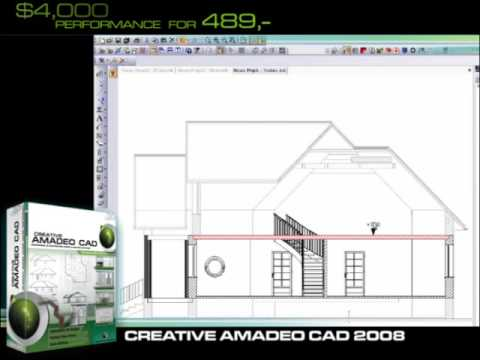 Cad software architecture creative amadeo cad youtube for Architectural drafting programs free