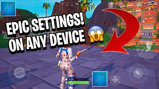 HOW TO GET EPIC GRAPHICS ON ANY DEVICE 😱 [FORTNITE MOBILE]