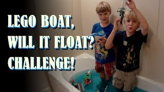 LEGO Boat, Will It FLOAT? CHALLENGE!  Supertwins Toy TV