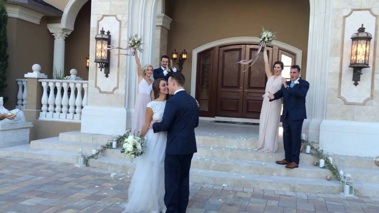 Rose petal wedding grand exit at casa bella estate in slow for Casa bella collection