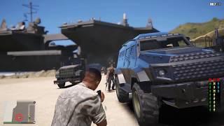 Третья мировая война в gta 5! Военные напали на берег Лос-Сантоса!