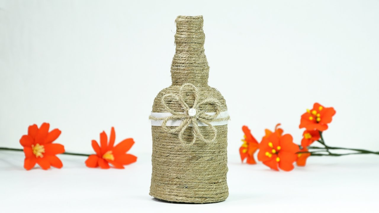 Turn Glass Bottle Into Beautiful Flower Vase Super Easy Waste