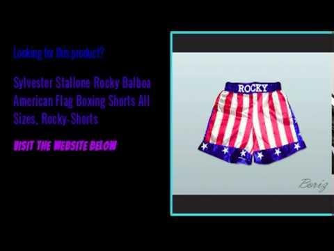 Sylvester Stallone Rocky Balboa American Flag Boxing Shorts All Sizes  Rocky Shorts