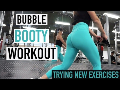 Bubble BOOTY Workout & Trying NEW Exercises !