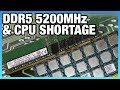 HW News - First DDR5 at 5200MHz, CPU Shortage for DIY, & Apple T2